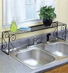 over the faucet shelf - small kitchen storage