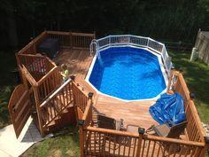 Outdoor Oasis--DIY Pool Deck #ryobination