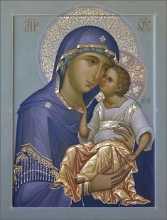 """""""""""Mary, Mother of the Author of life, Mother of the living, helps all humanity to appreciate more and more the great gift of life. Bless families and make them sanctuaries of welcome, respect and love for the life of the human being. Religious Images, Religious Icons, Religious Art, Byzantine Icons, Byzantine Art, Church Icon, Religion Catolica, Russian Icons, Blessed Mother Mary"""