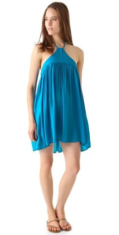 Riller & Fount Callista Braided Halter Mini Dress in Riviera @Shopbop