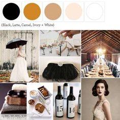 Latte, Coffe, Carmel, Black color palette. (found it at: The Perfect Palette)