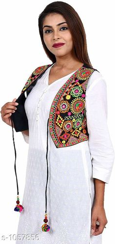 Ethnic Jackets & Shrugs Gorgeous Cotton Kutchi Work Ethnic Jacket  *Fabric* Cotton  *Sleeves* Sleeves Are Not Included  *Size* S- 36 in, M- 38 in, L- 40 in  *Length* Up To 22 in  *Type* Stitched  *Description* It Has 1 Piece Of Women's Ethnic Jacket  *Work* Kutchi Work  *Sizes Available* S, M, L *   Catalog Rating: ★4.1 (796)  Catalog Name: Hrishita Gorgeous Cotton Kutchi Work Ethnic Jackets Vol 6 CatalogID_129052 C74-SC1008 Code: 483-1057856-