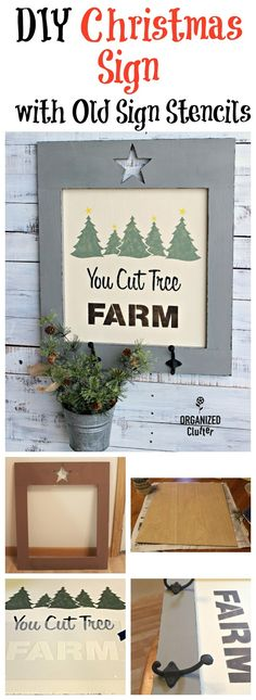 DIY CHRISTMAS Sign w