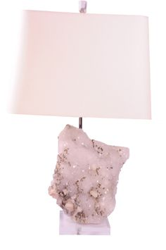 White Calcite w/ Pyrite Lamp Light Up, Light Fixtures, Design, Home Decor, Home, Decoration Home, Room Decor, Interior Design, Design Comics