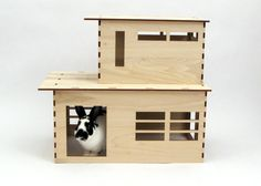 Artist designed rabbit hutch! The Modernist rabbit house by Habifab on Etsy, $149.00