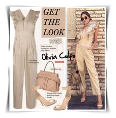 """""""Get The Look: Olivia Culpo"""" by hamaly ❤ liked on Polyvore featuring Tod's, Gianvito Rossi and TIBI"""