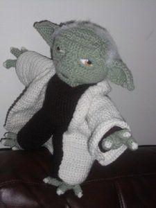 Yoda amigurumi - Patrón gratis - XL