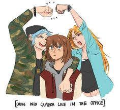Being Max with two rowdy best friends is suffering. also Victoria and Max have a deal that every friday Victoria gets to pick what they wear and she just SPARKLES because they look so on point. Life Is Strange Fanart, Life Is Strange 3, Overwatch, Chloe Price, Dontnod Entertainment, Blue Haired Girl, Cultura Pop, Cute Gay, Art Reference