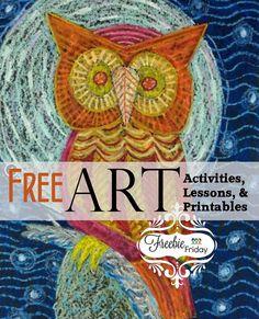 Freebie Friday - Art January 2016 | Hip Homeschool Moms