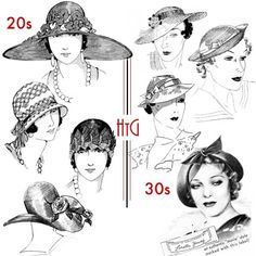 1920's Hats, 1920's fashion