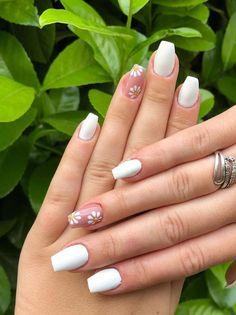 Cute Short Nails, Short Gel Nails, Short Nails Art, Trendy Nails, Long Nails, Cute Nails, Gel Manicure Designs, Star Nail Designs, Cute Acrylic Nail Designs
