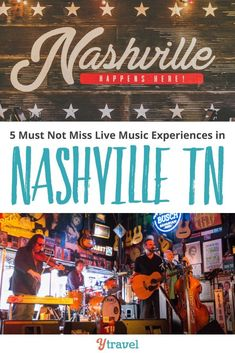 5 Must Not Miss live music experiences in Nashville TN. Check out the Grand Ole Opry, Bluebird Cafe and more for the best things to do in the Music City #tennessee #music #opry #usa #familytravel #ustraveltips #usroadtrip