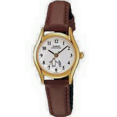 Casio Womens Brown Leather Analog Watch >>> Visit the image link more details. Casio Vintage, Core Collection, Coach Handbags, Casio Watch, Brown Leather, Quartz, Band, Stuff To Buy, Accessories