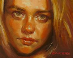 Amber  Original Oil Painting by Larriva on Etsy