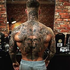 Tattoos on back Back Piece Tattoo Men, Neck Tattoo For Guys, Chest Piece Tattoos, Back Tattoo Women, Chest Tattoos For Guys, Head Tattoos, Life Tattoos, Body Art Tattoos, Sleeve Tattoos