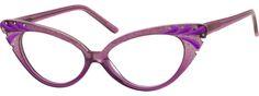 PurpleAcetate Full-Rim Cat Eye Glasses - $35.95 complete prescription glasses from Zenni Optical