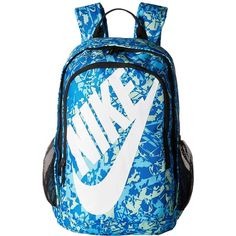 3864cf4c29 Nike Hayward Futura 2.0 - Print (Light Photo Blue/Black/White)... ($60) ❤  liked on Polyvore featuring bags, backpacks, blue bag, nike knapsack, ...