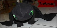 peluche Krokmou Dragons DIY / Toothless How to train your dragon DIY