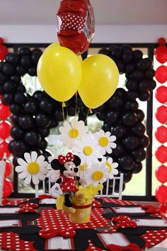Minnie Mouse Polka dots Birthday Party Ideas | Photo 1 of 7