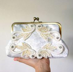 Beaded Art Deco Bridal Clutch Purse by tbtcwedding on Etsy