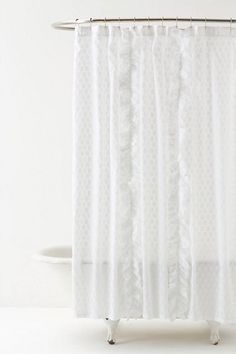 Dot Flurry Shower Curtain #anthropologie