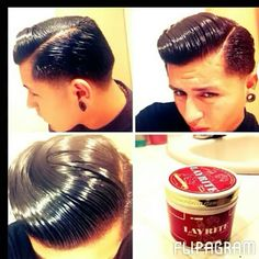 Male Hairstyles, Slick Hairstyles, Classic Hairstyles, Great Hairstyles, Professional Hairstyles, Cool Mens Haircuts, Hairstyles Haircuts, Greaser Hair, Brylcreem