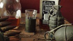 40MM Military Short Shot glass by ConjuredFabrications on Etsy, $20.00