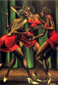 Singing Sistas by Ernie Barnes  Available from Avisca.com