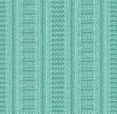 Схемы рельефных узоров спицами