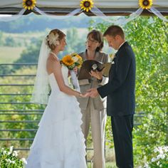 Photo of a wedding ceremony at Minnesota Outdoor Weddings at Montgomery Orchard
