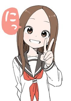 Takagi by yamamoto souichirou Anime Chibi, 5 Anime, Anime Love, Simple Anime, Waifu Material, Animes Wallpapers, Anime Art Girl, Cute Drawings, Character Art