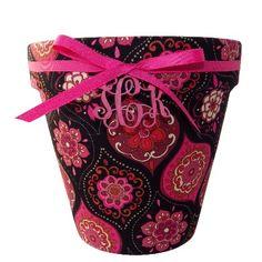 Monogrammed Garden Party Flower Pot - Morgan & Company