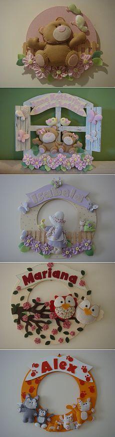 Painéis feitos de feltro para a criança. Ideia. / ideias interessantes decoração / PassionForum - master classes em bordado