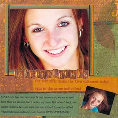 Use Physical Traits as Scrapbook Page Inspiration