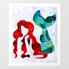 Mermaid Art Print by Artpoptart | Society6