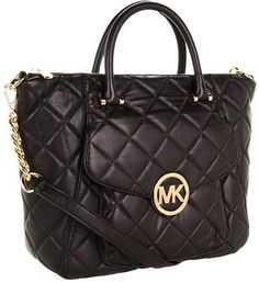 MICHAEL Michael Kors Fulton Quilt Large Satchel Black | Traveling Of Life #fashion #women #bags #shoes #clothing