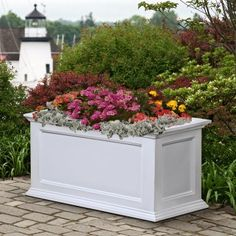 Mayne Rectangle Polyethylene Fairfield Patio Planter