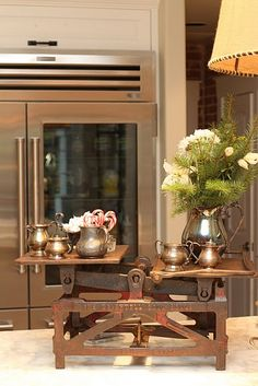 new way to display your silver tea set