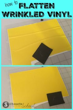 How to Fix Wrinkled Vinyl: Silhouette Hack for Removing Wrinkles and Bubbles