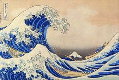 Hokusai Wave- some say Monet helped start the Japanese art frenzy in Europe in the 19th century - at the end of his life he owned 231 Japanese   engravings.