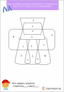 Γνωρίζω και ζωγραφίζω κεφαλαία και πεζά Archives - Page 2 of 2 - #logouergon Thing 1, Logos, School Ideas, Greek, Logo, Greek Language, A Logo, Greece