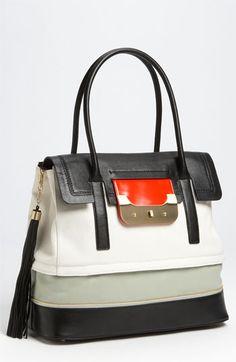 "One can never have too many purses like this one:  Diane Von Furstenberg ""Harper Laurel"" Canvas Shoulder Bag."