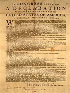 """""""We hold these truths to be self-evident!"""" She shouted,""""That all men are created equal, that they are endowed by their creator with certain unalienable rights, that among these are life, liberty, and the pursuit of happiness .""""  (pg.160) Nathan L."""