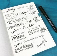 Top 12 bullet journal hacks art 공책, 불렛저널 и 일기 Bullet Journal Inspo, Bullet Journal Title Fonts, Bullet Journal Banners, Journal Fonts, Journal Pages, Bullet Journals, Bullet Journal Index Examples, Borders Bullet Journal, Bullet Journal Ideas Handwriting