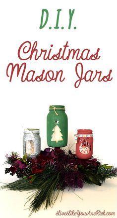 DIY Christmas Mason