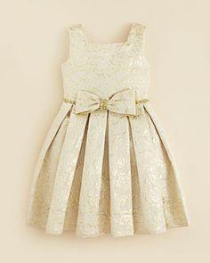 Kleinfeld Pink Girls' Morgan Rose Embossed Dress - Sizes 2T-4T | Bloomingdale's