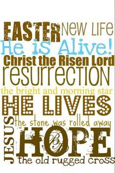 Hallelujah!!! #HeIsRisen #HappyEaster