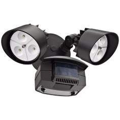 Lithonia Lighting Oflr 120 Mo Bz Led Outdoor Floodlight Motion Sensor Black Bronze Adjusts Up To 180 Degrees Range Each Head Contains 3