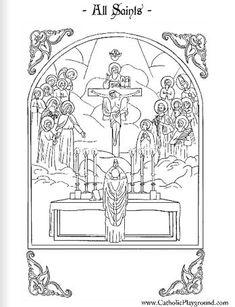 All Saints Coloring Page: November 1st - Catholic Playground