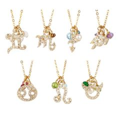 Zodiac Charm Necklaces